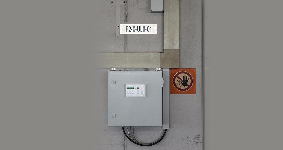 Steuerung für einen GfA-Feuerschutz-ELEKTROMATEN FS