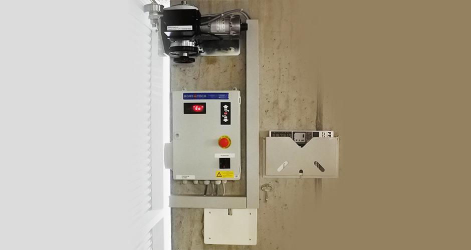 Schlaufriemenantrieb mit einer Feig FUE-2-AG Frequzenzumformer Steuerung