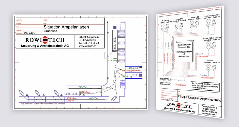 Prizipleitungsplan , Übersichtsschema für eine Ampelanlage